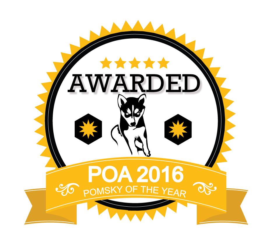 2016 Pomsky Of The Year Award Badge